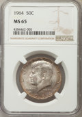 Kennedy Half Dollars, 1964 50C MS65 NGC. NGC Census: (3250/886). PCGS Population(2441/1301). Mintage: 273,300,000. Numismedia Wsl. Price for pro...