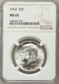 Kennedy Half Dollars, 1964 50C MS65 NGC. NGC Census: (3250/886). PCGS Population(2454/1307). Mintage: 273,300,000. Numismedia Wsl. Price for pro...