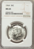 Kennedy Half Dollars, 1964 50C MS65 NGC. NGC Census: (3250/886). PCGS Population(2469/1340). Mintage: 273,300,000. Numismedia Wsl. Price for pro...