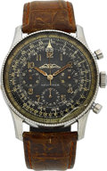 Timepieces:Wristwatch, Breitling Rare Navitimer AOPA Ref. 806 With Valjoux 72 Movement....