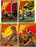 Pulps:Science Fiction, Amazing Stories Group of 6 (Ziff-Davis, 1927-30) Condition: AverageGD/VG.... (Total: 6 Items)