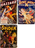 Pulps:Hero, Assorted Hero Pulps Group of 3 (Various, 1938-42) Condition: Average GD/VG.... (Total: 3 Items)