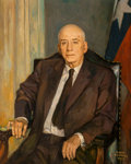 Fine Art - Painting, American:Contemporary   (1950 to present)  , Serge Ivanhoff (American, 20th Century). Portrait of SamRayburn, Speaker of the House, 1958. Oil on canvas. 40-1/2 x32...