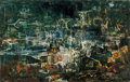 Paintings, Xavier González (American, 1898-1993). Fish Pond, 1960. Oil on canvas. 24 x 38 inches (61.0 x 96.5 cm). Signed, dated, t...