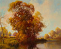 Fine Art - Painting, American:Contemporary   (1950 to present)  , A.D. Greer (American, 1904-1998). Fall Landscape. Oil oncanvas. 25 x 30-1/4 inches (63.5 x 76.8 cm). Signed lower left:...