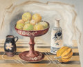 , Bror Utter (American, 1913-1993). Still Life with Gords, 1967. Watercolor on paper. 17-1/2 x 21-1/2 inches (44.5 x 54.6 ...