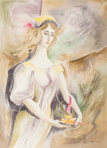 Works on Paper, Bror Utter (American, 1913-1993). Angel, 1968. Watercolor on paper. 29 x 21 inches (73.7 x 53.3 cm) (image). Signed and ...