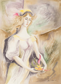 Bror Utter (American, 1913-1993) Angel, 1968 Watercolor on paper 29 x 21 inches (73.7 x 53.3 cm)