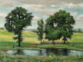 Fine Art - Painting, American:Contemporary   (1950 to present)  , Emily Guthrie Smith (American, 1909-1986). Cloud Shadows.Oil on canvas. 17 x 21 inches (43.2 x 53.3 cm). Signed lower r...