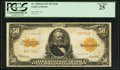 Large Size:Gold Certificates, Fr. 1200a $50 1922 Mule Gold Certificate PCGS Very Fine 25.. ...