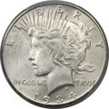 Peace Dollars, 1934-S $1 MS65 PCGS....