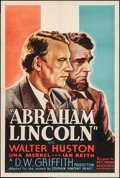 "Movie Posters:Drama, Abraham Lincoln (Artcinema Associates, R-1937). One Sheet (27"" X 41""). Drama.. ..."