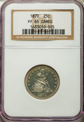 Proof Seated Quarters, 1870 25C PR65 Cameo NGC....