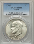 Eisenhower Dollars, 1976-S $1 Silver MS68 PCGS. PCGS Population (745/0). NGC Census: (73/0). Mintage: 11,000,000. Numismedia Wsl. Price for pro...