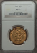 Liberty Eagles: , 1890 $10 MS61 NGC. NGC Census: (145/60). PCGS Population (70/125). Mintage: 57,900. Numismedia Wsl. Price for problem free ...