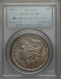 Errors, 1899-O $1 Morgan Dollar -- Broadstruck out of Collar -- AU58 PCGS...