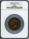 U.S. Mint Medals, (1856) Commodore M.C. Perry MS66 Brown NGC. Julian-PE-26. Bronze, 66 mm....