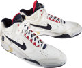 Basketball Collectibles:Others, 1992 Olympic Games Scottie Pippen Game Worn & Signed USA Basketball Dream Team Sneakers - Fischer Collection....