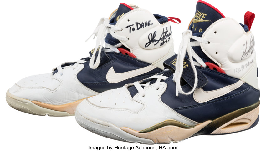 985315e901fc 1992 Olympic Games John Stockton Game Worn   Signed