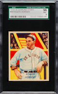 Baseball Cards:Singles (1930-1939), 1934-36 Diamond Stars Rogers Hornsby #44 SGC 96 Mint 9 - Pop Two,None Higher. ...