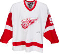 Hockey Collectibles:Uniforms, 1998-99 Sergei Federov Game Used Detroit Red Wings Jersey....