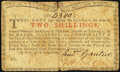 Colonial Notes:New York, New York January 6, 1776 (Water Works) 2s Very Fine.. ...