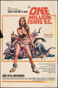 "Movie Posters:Fantasy, One Million Years B.C. (20th Century Fox, 1966). Poster (40"" X60""). Fantasy.. ..."