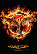 "Movie Posters:Action, The Hunger Games: Mockingjay - Part 1 (Lions Gate, 2014). One Sheets (2) (27"" X 40"") DS Advance Emblem & DS Advance Katniss ... (Total: 2 Items)"
