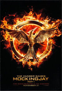"The Hunger Games: Mockingjay - Part 1 (Lions Gate, 2014). One Sheets (2) (27"" X 40"") DS Advance Emblem & D..."