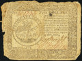 Colonial Notes:Continental Congress Issues, Continental Currency September 26, 1778 $5 Very Good.. ...