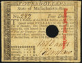 Colonial Notes:Massachusetts, Massachusetts May 5, 1780 $4 Very Fine, HOC.. ...