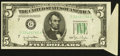 Error Notes:Foldovers, Fr. 1961-G $5 1950 Wide I Federal Reserve Note. Extremely Fine.....