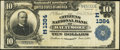 National Bank Notes:Maryland, Baltimore, MD - $10 1902 Plain Back Fr. 624 The Citizens NB Ch. #(E)1384. ...
