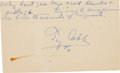 Baseball Collectibles:Others, 1950's Ty Cobb Signed Government Postcard with Tense Words toAutograph Request. ...