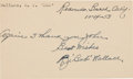 Baseball Collectibles:Others, 1953 Roderick Wallace Signed Government Postcard. ...