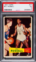 Basketball Cards:Singles (Pre-1970), 1957 Topps Bill Russell #77 PSA EX 5....