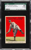 Baseball Cards:Singles (Pre-1930), 1914 Cracker Jack Walter Johnson #57 SGC 80 EX/NM 6....