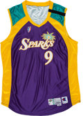 Basketball Collectibles:Uniforms, 1999 Lisa Leslie Game Worn WNBA Los Angeles Sparks Jersey withMemorial Band. ...