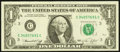 Error Notes:Ink Smears, Fr. 1908-C $1 1974 Federal Reserve Note. About Uncirculated.. ...