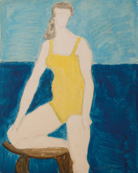Milton Avery (1885-1965) Bather, 1961 Oil on canvasboard 30 x 24 inches (76.2 x 61 cm) Signed