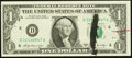 Error Notes:Ink Smears, Fr. 1905-D $1 1969B Federal Reserve Note. Choice CrispUncirculated.. ...