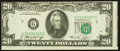 Error Notes:Miscellaneous Errors, Fr. 2071-G $20 1974 Federal Reserve Note. Very Fine.. ...