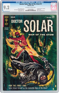 Doctor Solar, Man of the Atom #5 (Gold Key, 1963) CGC NM- 9.2 Off-white to white pages