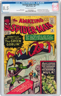 Silver Age (1956-1969):Superhero, The Amazing Spider-Man #14 (Marvel, 1964) CGC VF+ 8.5 Off-white towhite pages....