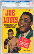 Golden Age (1938-1955):Miscellaneous, Joe Louis #1 Canadian Edition (Anglo-American Pub., 1950) CGC NM- 9.2 White pages....