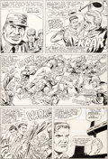 Original Comic Art:Panel Pages, Dick Ayers and Frank Giacoia Sgt. Fury #24 Story Page 9Original Art (Marvel, 1965)....