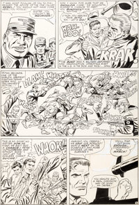Dick Ayers and Frank Giacoia Sgt. Fury #24 Story Page 9 Original Art (Marvel, 1965)