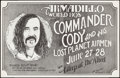 "Movie Posters:Rock and Roll, Commander Cody and His Lost Planet Airmen at The Armadillo WorldHeadquarters (AWH, 1974). Concert Poster (30"" X 40""). Rock ..."