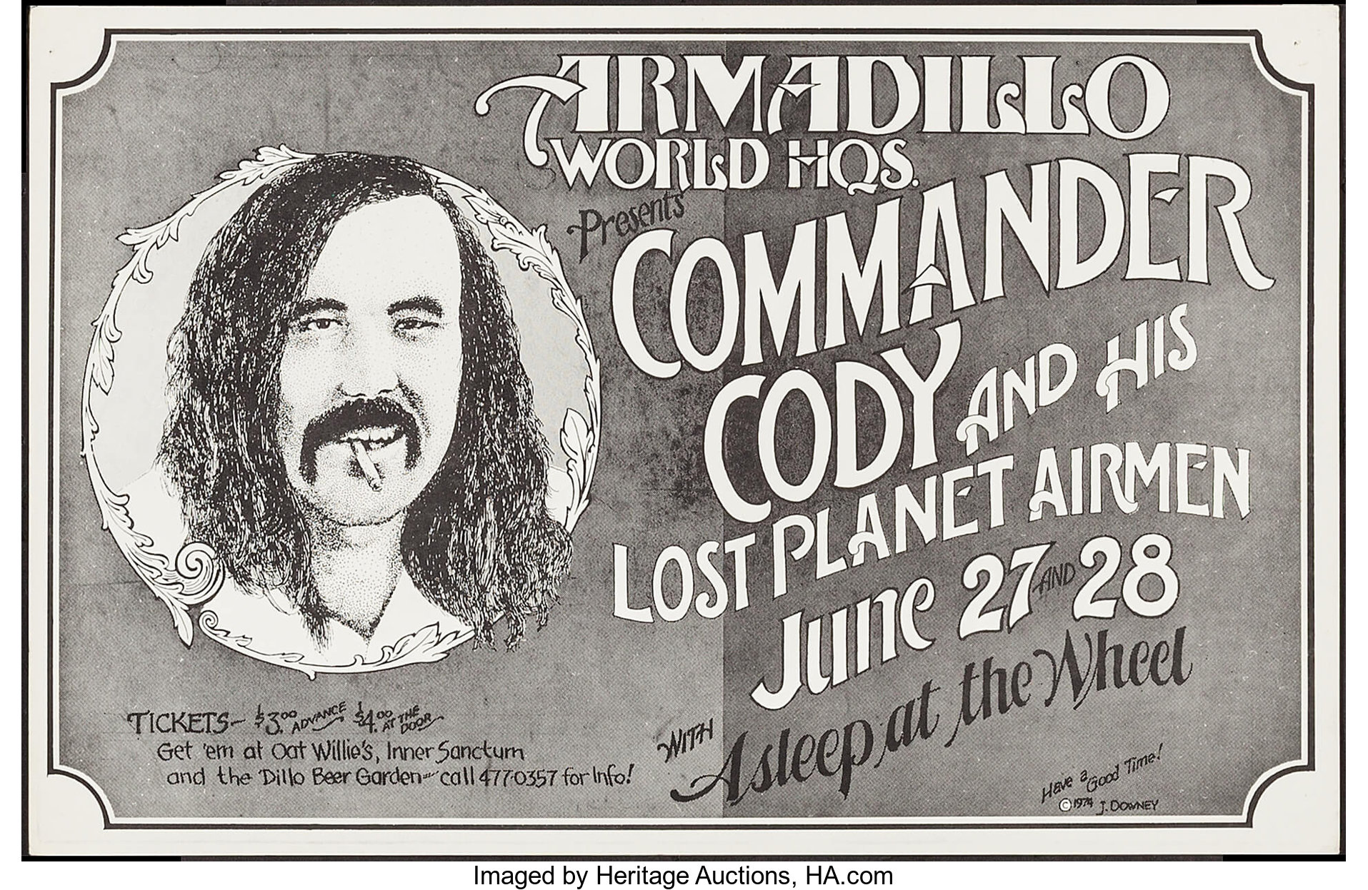 Commander Cody and His Lost Planet Airmen at The Armadillo World | Lot  #53097 | Heritage Auctions