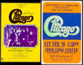"Movie Posters:Rock and Roll, Chicago Lot (Various, 1970s). Concert Posters (3) (13.25"" X 21"",13.5"" X 21"" & 14"" X 22""). Rock and Roll.. ... (Total: 3 Items)"